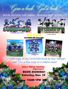 Book Signing November 18th from 10am-1pm